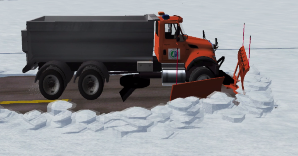 A snow plow simulator using Dreamworks OpenVDB and delta3d.